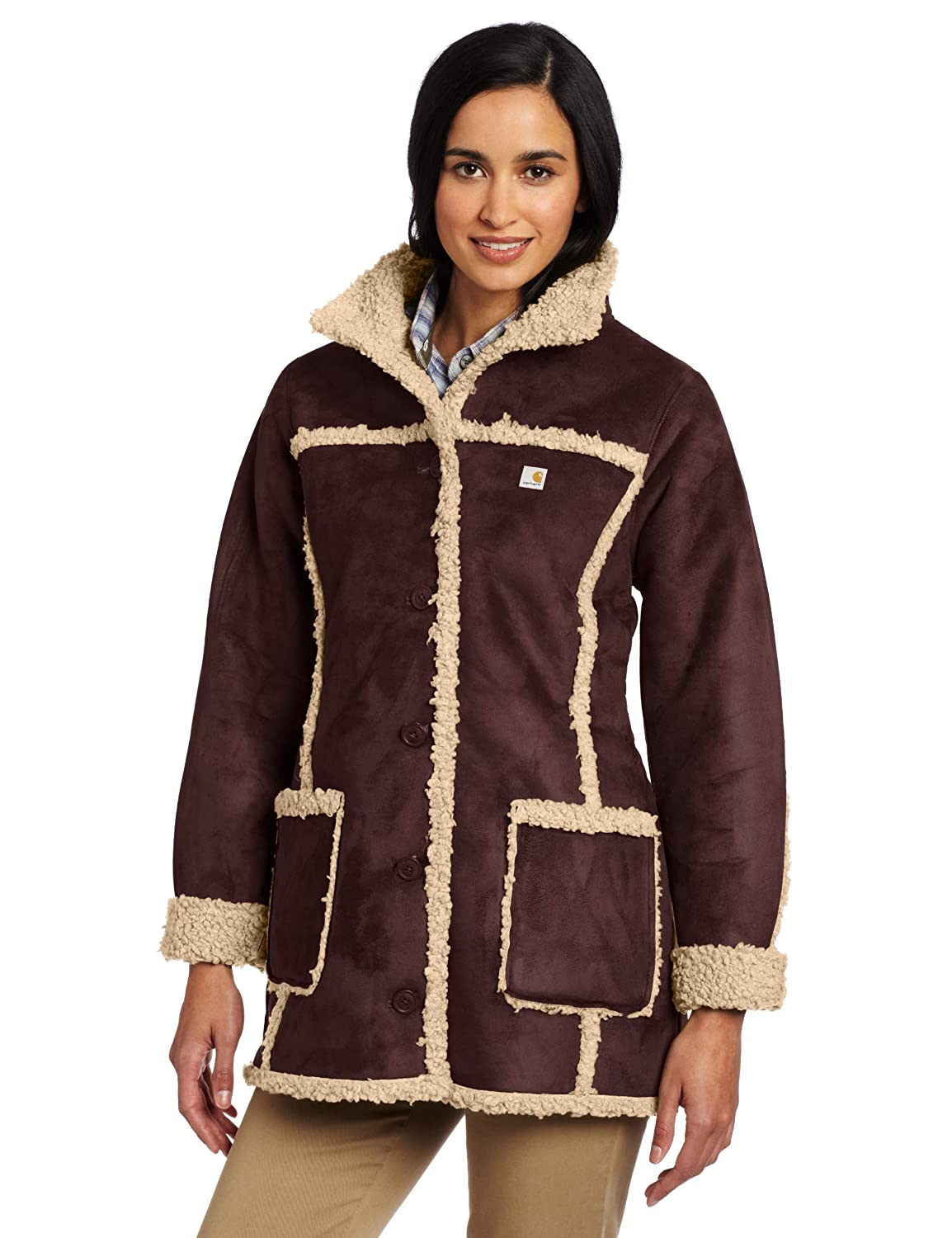 Carhartt Women's Boulder Parka, Deep Wine (Closeout), Small at ...