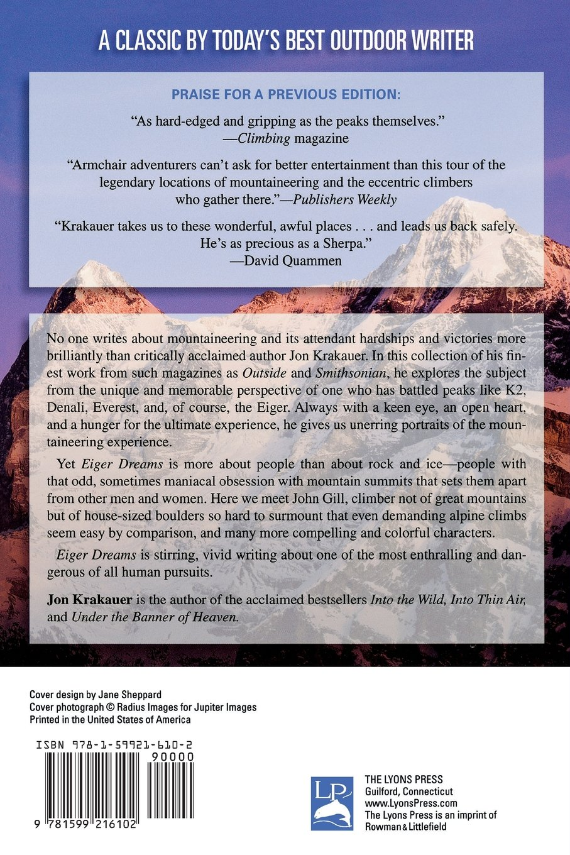 eiger dreams ventures among men and mountains ca jon eiger dreams ventures among men and mountains ca jon krakauer books