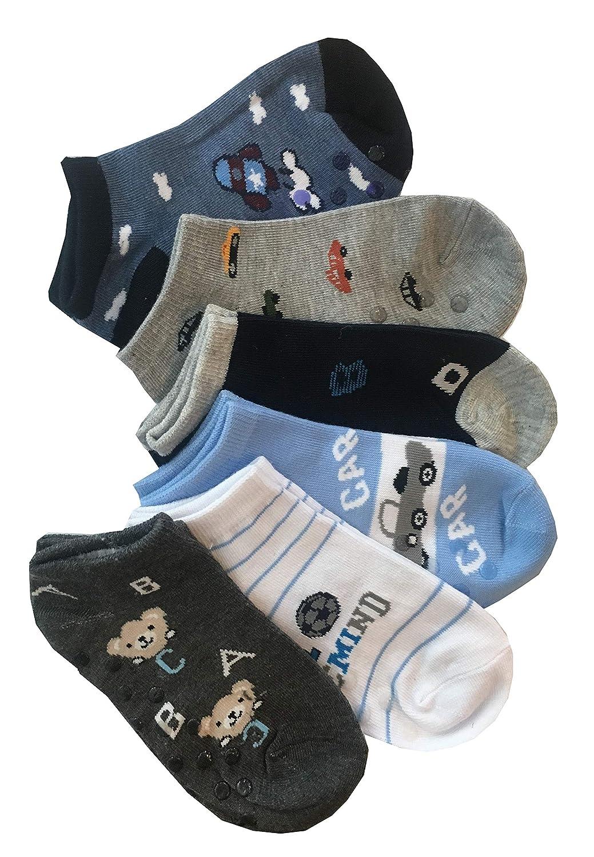 TUKA TKB7001-blue-M-4X Calzini Sport 4 paia Anti-scivolo Calzini bambini Taglia 27-30 Blu calzini ABS Unisex per ragazze e ragazzi Antiscivolo Calzini per Bambini 4-6 anni