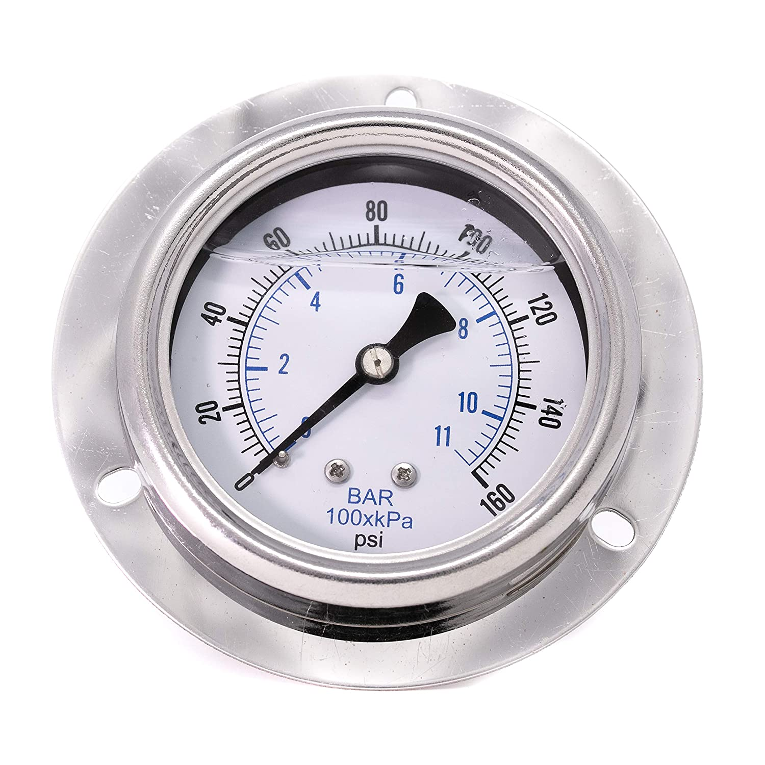 PIC Gauges 214T-254F 2.5 Dial 0//160 psi Range 2-1-2/% Accuracy