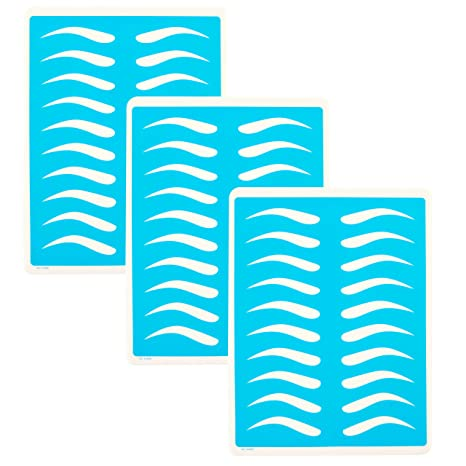 8f0219f7521 Amazon.com   Microblading Supplies 3 Piece Practice Skin For Eyebrow  Tattoos  Permanent Makeup Silicone Skin To Practice Brow Micro-Blading And  Needling