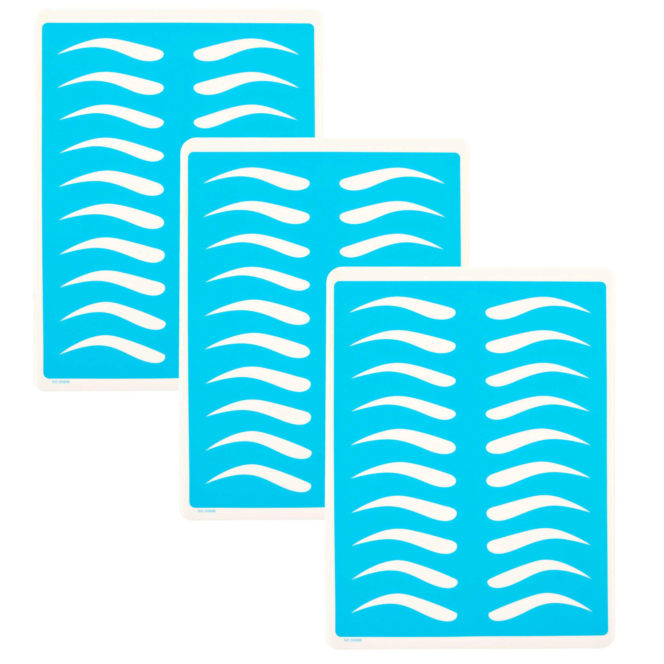 Amazon.com : Microblading Supplies 3 Piece Practice Skin For Eyebrow ...