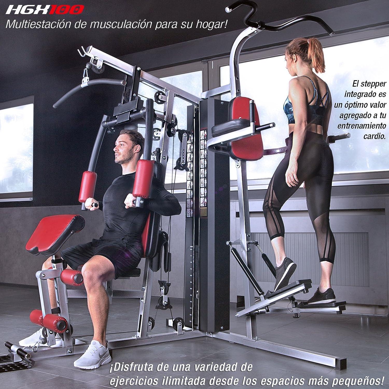 Sportstech HGX200 Multiestación musculación Premium 45en1 Sirve para innumerables Posibilidades de Entrenamiento. Máquina de Pesas Robusta con Torre de ...