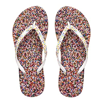 Showaflops Womens' Antimicrobial Shower & Water Sandals for Pool, Beach, Dorm and Gym - Sweet Treats Collection | Flip-Flops