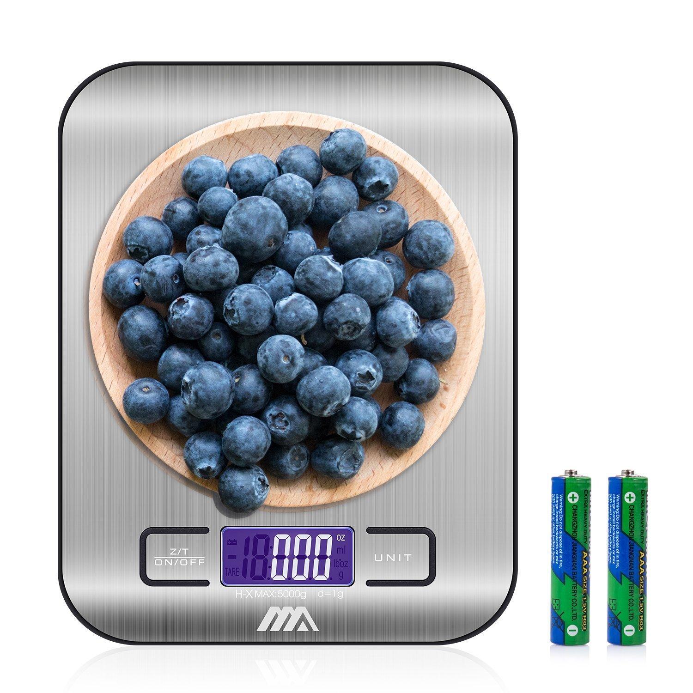 Adoric Báscula digital Cocina, Smart Weigh, Mini Balanza Escala Multifuncional electrónica para Alimentación,