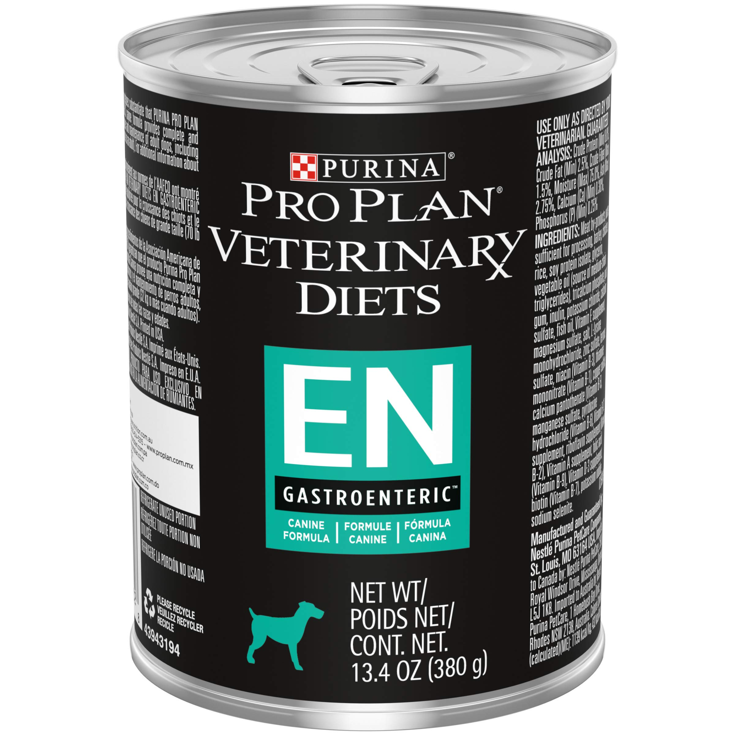 Purina Pro Plan Wet Dog Food, Veterinary Diets EN Gastroenteric Canine Formula - (12) 13.4 oz. Cans by Purina Veterinary Diets