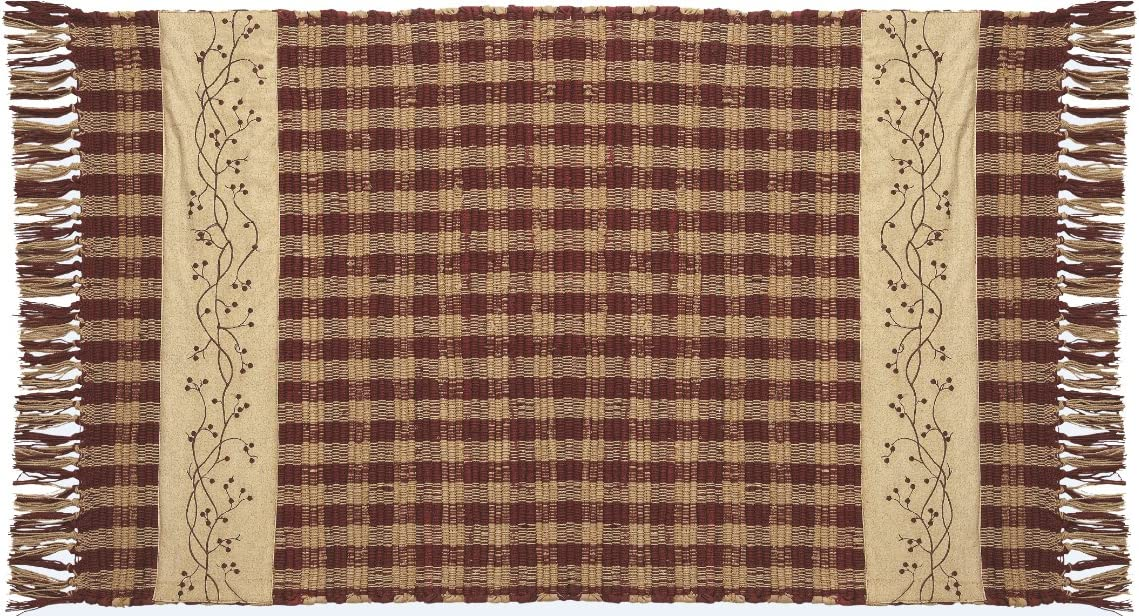 IHF Checker Berry Woven Rug 24 Inche
