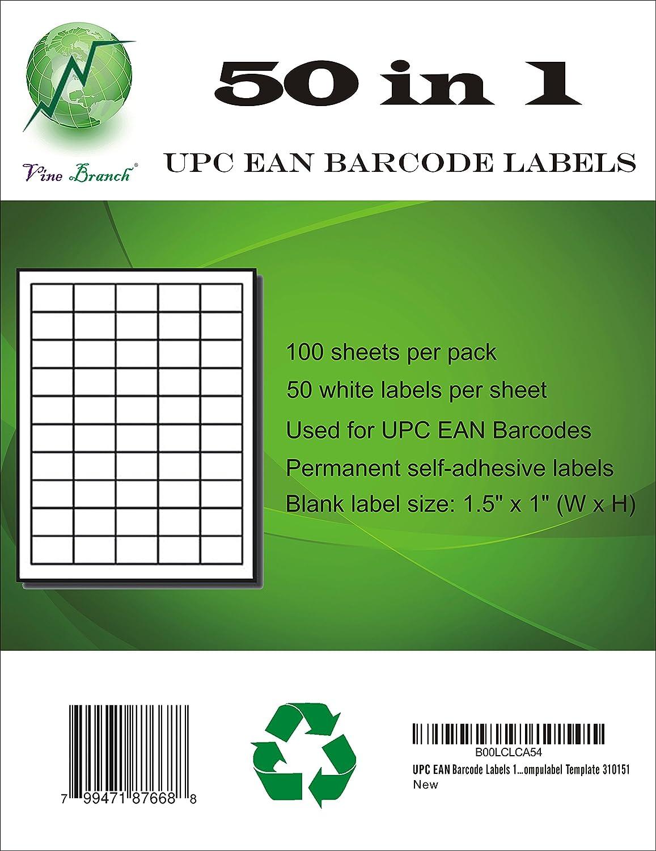 amazon com upc ean barcode labels 1 5 x 1 labels 50 labels per
