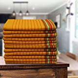 Gratico Kitchen Dish Towels, 100% Natural Cotton, Set of 12(20x28 Inches) Yellow Multi-Purpose Kitchen Towels, Very Soft, Hig
