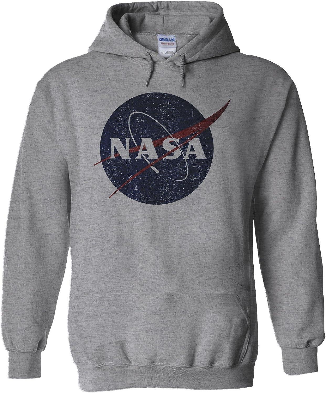 NisaBella NASA National Space Administration Logo White Men Women Unisex Hooded Sweatshirt Hoodie