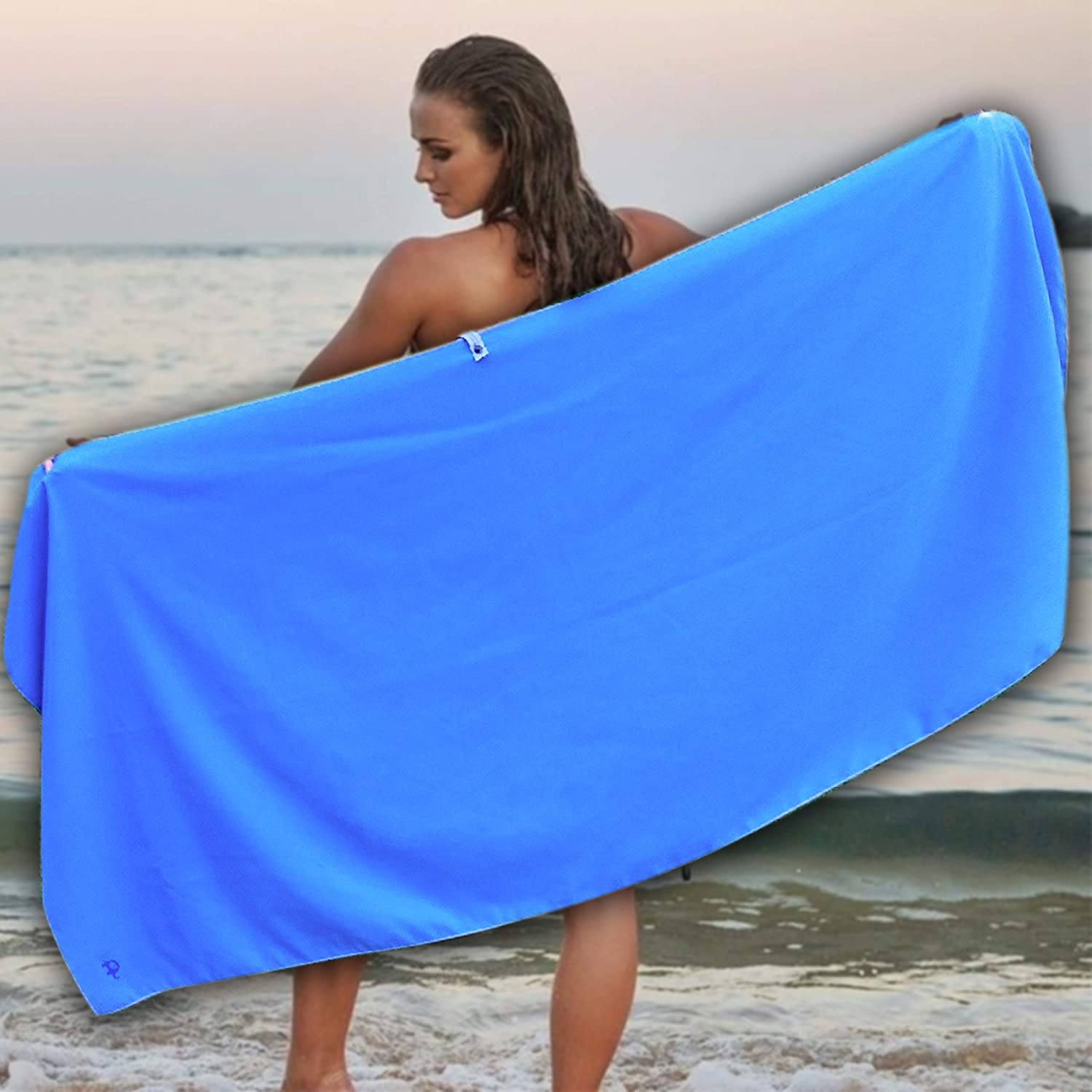 - Thin Lightweight Sand Free Towels Small 31x16 XL 71 x 31 and Elite Trend Microfiber Quick Dry Travel Towel:for Gym /& Sports 2 Sizes: