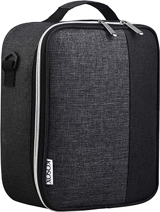 KOSOX Collapsible Thermal Insulated Lunch Tote Waterproof Zipper Cooler Bag