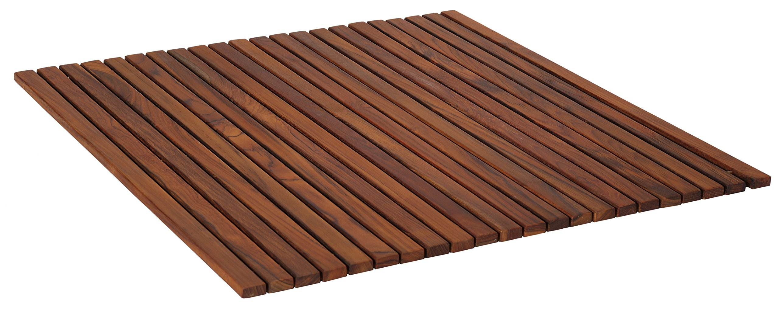 Bare Decor Fuji String Spa Shower Mat in Solid Teak Wood Oiled Finish. XL Square 30'' x 30'' by Bare Decor (Image #2)
