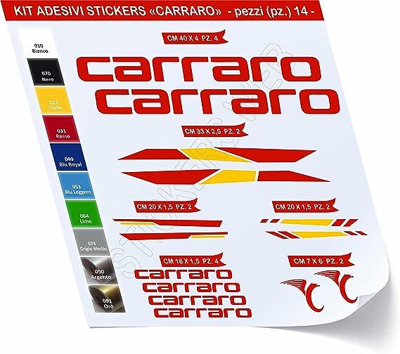Carraro - Juego de adhesivos para bicicleta, 14 unidades - Cód ...