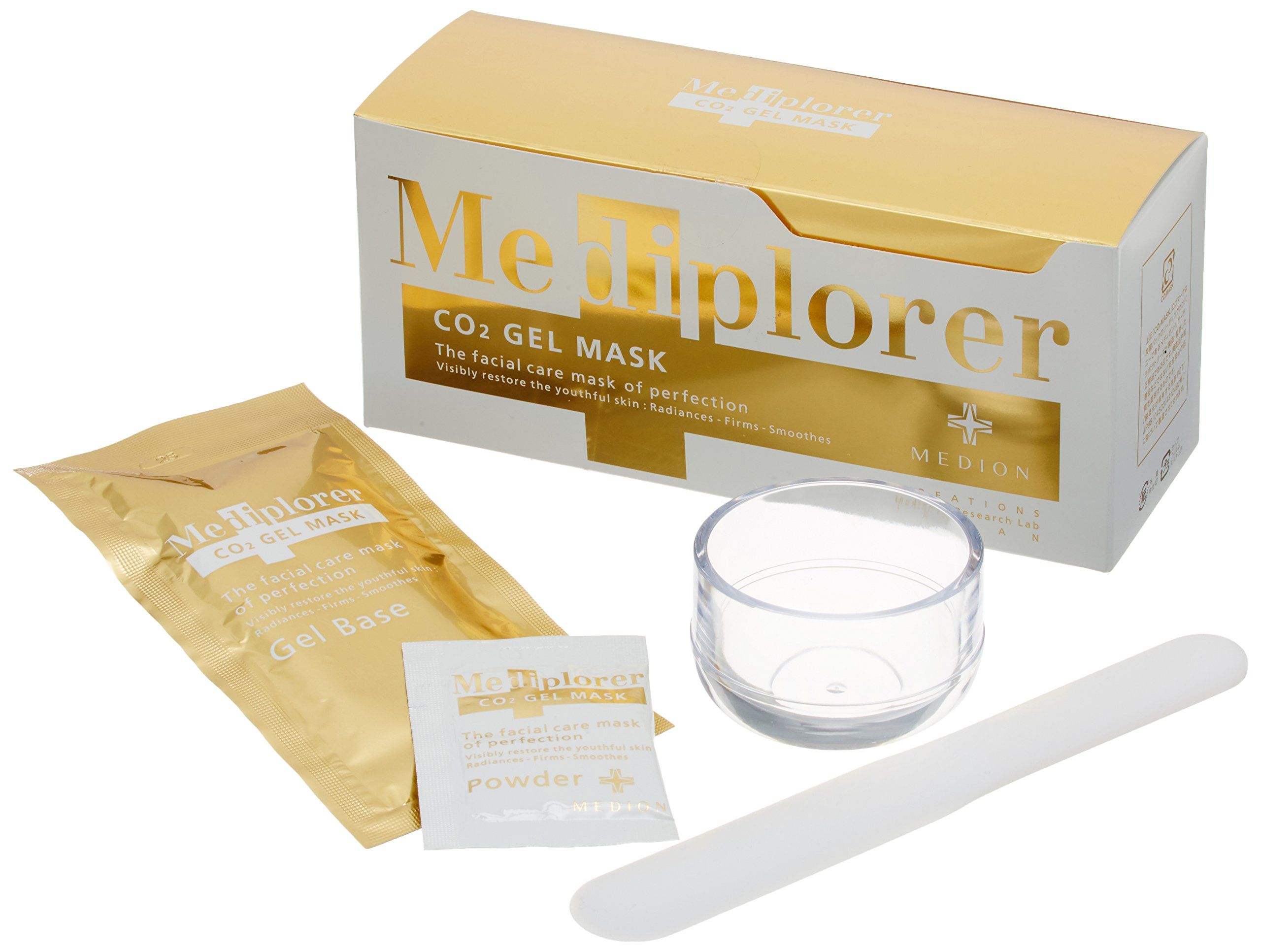 Mediplorer CO2 Gel Mask 6 Times Black Peel Off Face Mask (2.4oz) - Natural Deep Cleanser Blackhead Remover