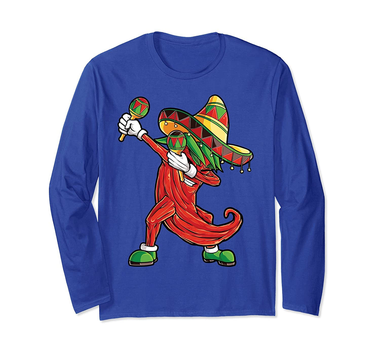 Chili Dabbing T Shirt Cinco de Mayo Pepper Women Sombrero-alottee gift
