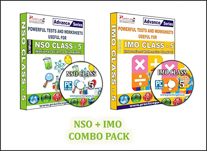Sure shot question bank - 40 Tests (IMO) & 16 Tests (NSO) - Class 5