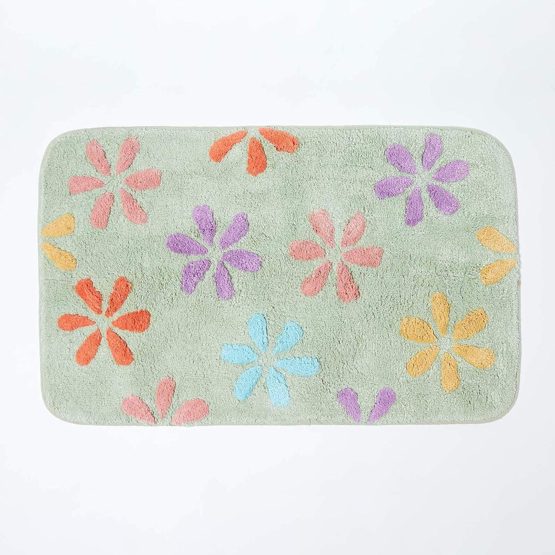 Homescapes - Alfombrilla de baño (100% algodón, 50 x 80 cm ...