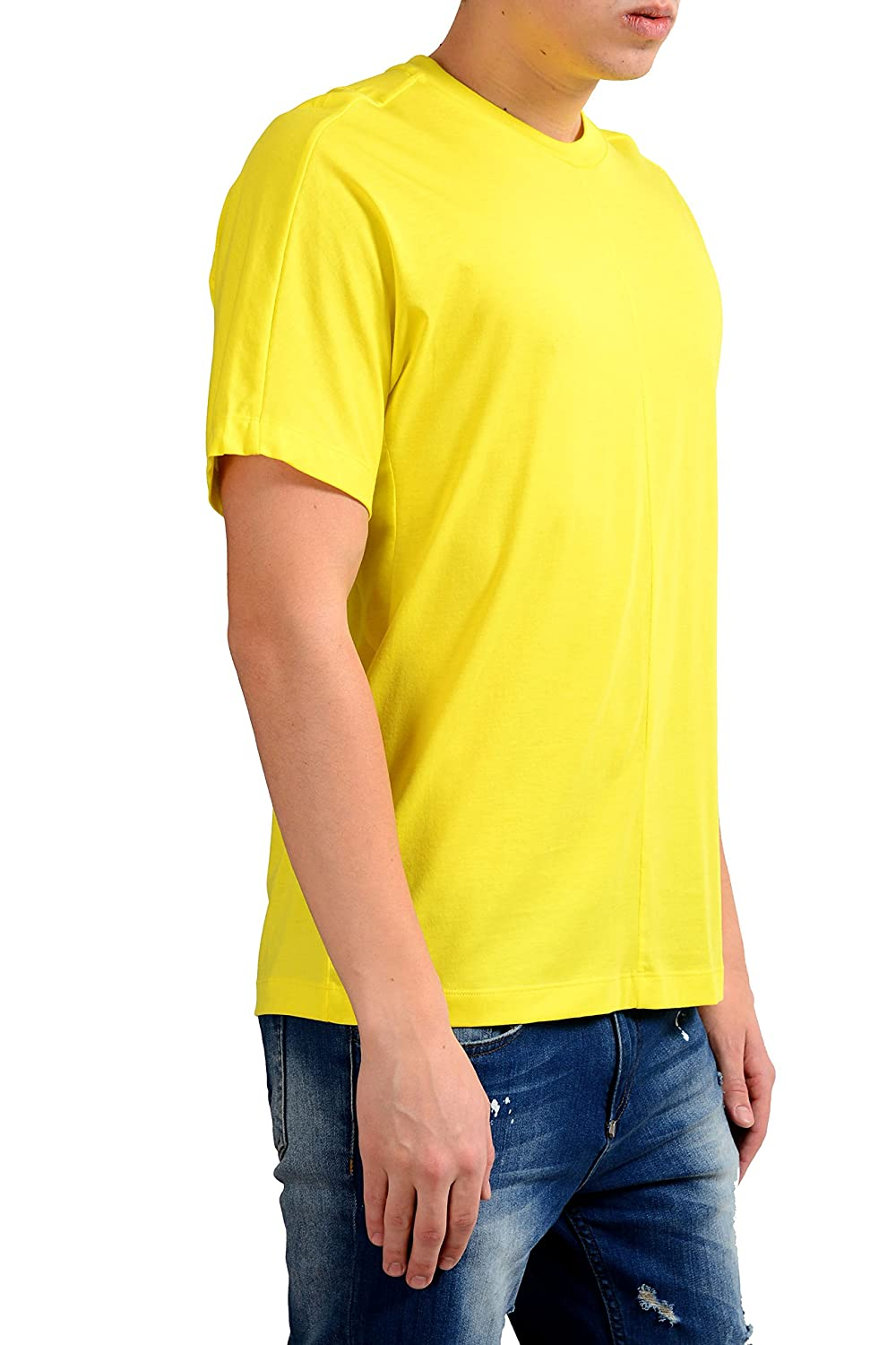 Hugo Boss Tiburt 23 Mens Yellow Crewneck T-Shirt US M IT 50
