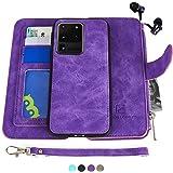 Samsung Galaxy S20 Ultra Case, Modos Logicos [Detachable Wallet Folio][2 in 1][Zipper Cash Storage][Up to 14 Card Slots…