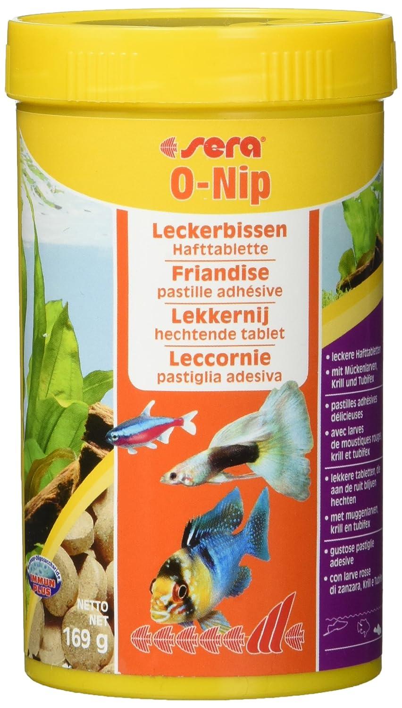 Sera 00440 O-nip FD-mix 100 Tabletten - Die Hafttablette mit Leckerbissen besonders für Schmerlen und Welse im Gesellschaftsaquarium Aquarien Aquaristik Fische Fischfutter