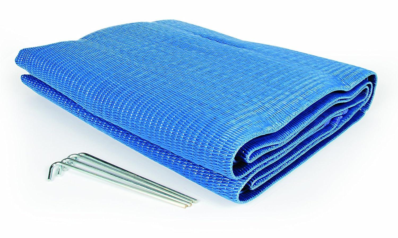 Camco 42881 Stuoia Reversibile per Tendalino, 1.83 x 2.74 m, Blu
