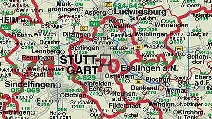 Len Esslingen federal land baden württemberg postcodes band colour a