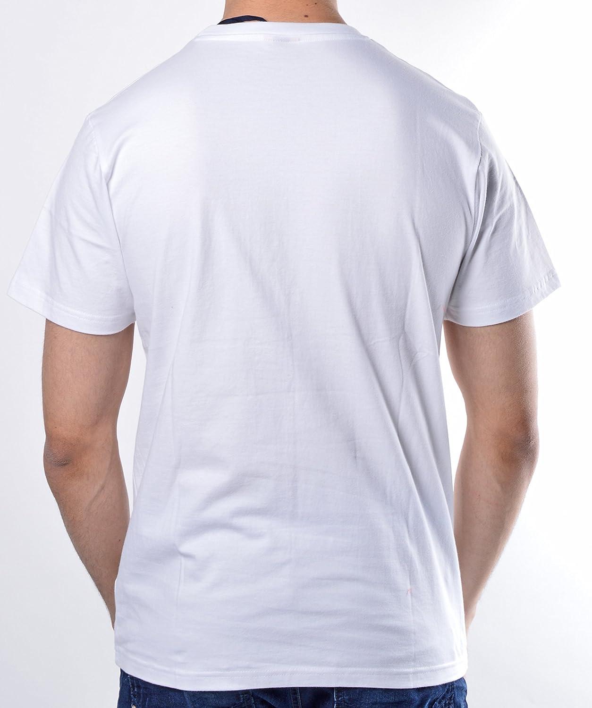 5ab2c06d Ellesse Prado Mens T-Shirt in White: Amazon.co.uk: Clothing