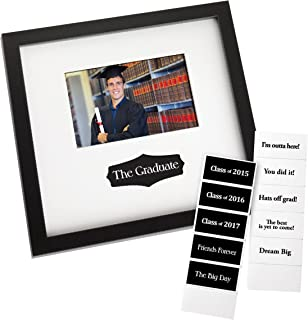 prinz graduation autograph frame in black finish with interchangeable messages 6 by 4 inch