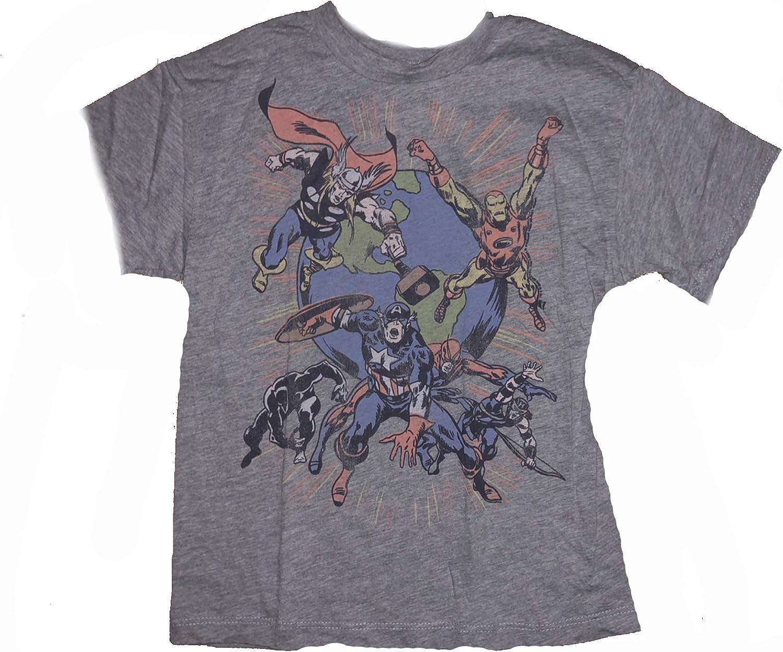 Junk Food Boys Marvel Comics Characters T-Shirt