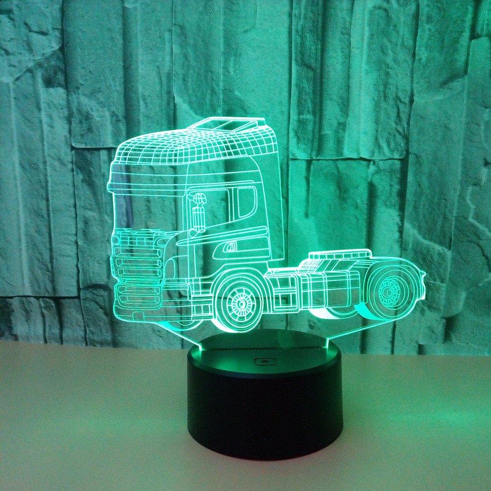 Note Kreative Lampe des Nachtlichtes des LKW-3d Acryl usb 3d Luminaria De Mesa f/ührte Usb-Leuchten-Kinderlampe