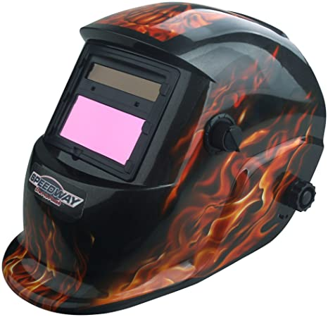 Speedway 7664 Solar Powered Auto Darkening Welding Helmet
