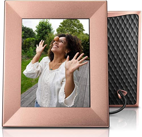 Nixplay Iris 8 Inch WiFi Digital Picture Frame Peach Copper
