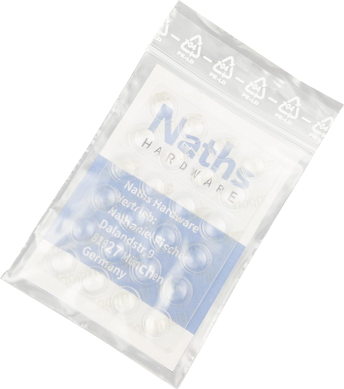 Gummi T/ürpuffer Naths Hardware/® Elastikpuffer transparent selbstklebend 25 St/ück M/öbelpuffer Schutzpuffer Silikon Puffer Gummipuffer Anschlagd/ämpfer Wandpuffer Anschlagpuffer 8mm