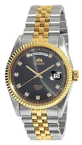 Reloj Orient Presid clásico automático de Zafiro en 2 Tonos Dorado EV0J002B: Amazon.es: Relojes