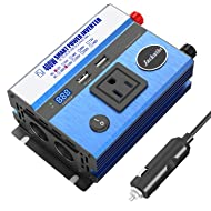 400W Power Inverter DC 12V to AC 110V Car Inverter with 2 USB Charging Ports Car