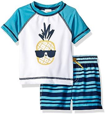 abfd5a20b6 Amazon.com: Gymboree Toddler Boys' 2-Piece Short Sleeve Rashguard Set:  Clothing