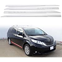 4-Door, SUV 10PC 0.625 Width, Includes The face of Window sill only 707Motoring Stainless Polished Chrome Window Sill Trim Set Compatible with Ford Escape 2013-2019