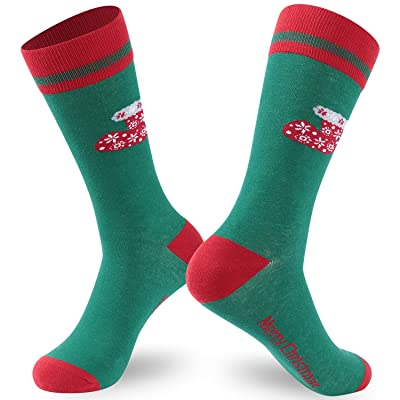 Ristake Christmas Novelty Socks, Family Crew Socks for Adults/Kids, 1/2 Pack: Clothing