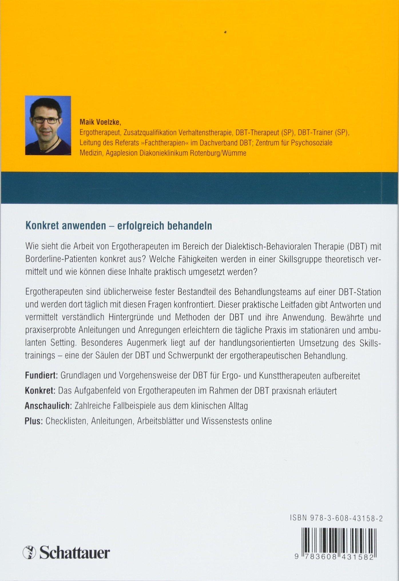 Ergotherapie im Rahmen der DBT: Handlungs- und materialbezogenes ...