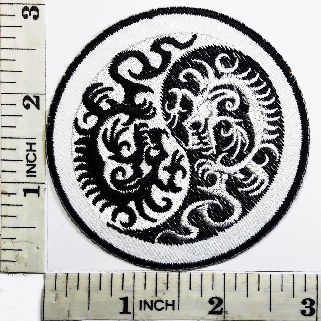 Parche de tatuaje de dragón de la suerte, chaqueta con símbolo de ...