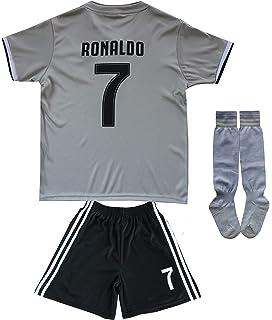 5e5787d32 FCM 2018/2019 CR7 New #7 Cristiano Ronaldo Kids Soccer Jersey & Shorts Youth