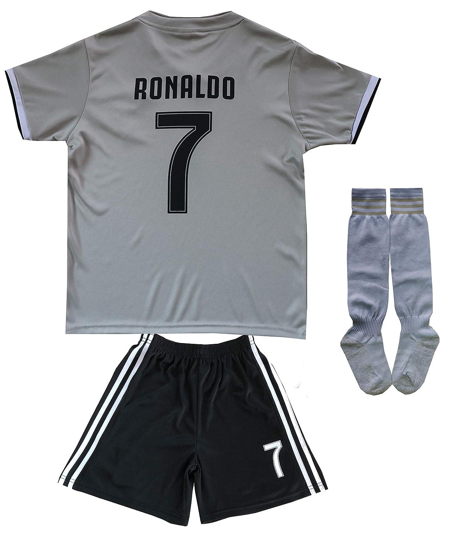 78d437070 FCM 2018 2019 CR7 New  7 Cristiano Ronaldo Kids Soccer Jersey ...