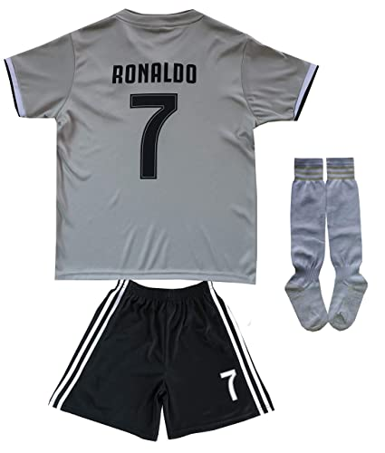 factory authentic 70d81 ced7a FCM 2018/2019 CR7 New #7 Cristiano Ronaldo Kids Soccer Jersey & Shorts  Youth Sizes