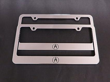Amazon.com: Acura Logo Chrome License Plate Frames (2pcs): Automotive