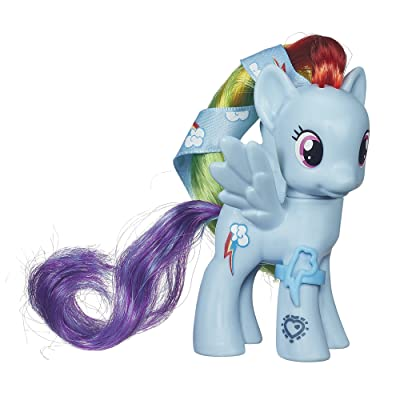 My Little Pony Cutie Mark Magic Rainbow Dash Figure: Toys & Games