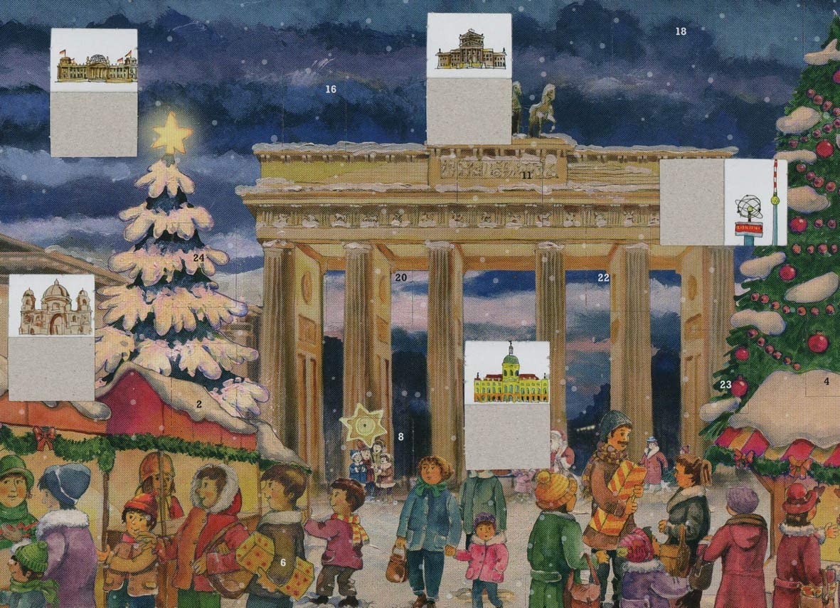 A3 Papier-Adventskalender ca Adventskalender Brandenburger Tor Berlin