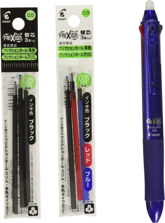 2019 new Pilot Frixion Ball 3 slim 3 Color Gel Ink Multi Pen 0.5 mm LKFBS60EF-B,R,L,SP,PW,DS