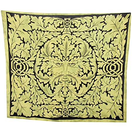 0b549d6b2e GREEN MAN CELTIC OAK TREE DOUBLE BEDSPREAD BACKDROP WALL HANGING TAPESTRY  THROW DECOR green purple (GREEN)  Amazon.co.uk  Kitchen   Home