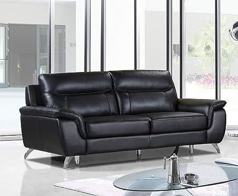 Amazon.com: Cortesi Home Chicago Leather Sofa, 79